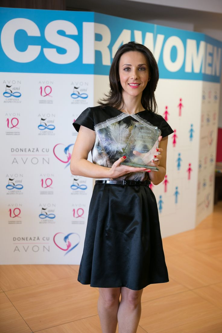 Andreea Răducan, awarded in CSR4WOMEN event for her initiatives that support young gymnasts.