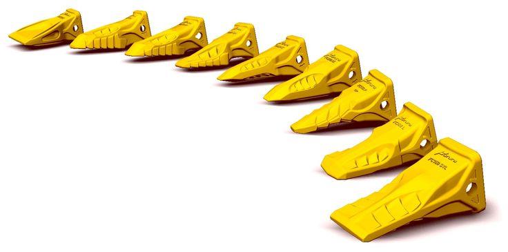 Zęby oraz Adaptery Zębów firm  Futura, Bofors, Case, Cat, Combi, Esco, Komatsu, JCB, Lehnhoff, Fiat, Hitachi, New Holland