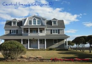 A Quonnie home in Central beach that hugs the coastline with incredible views. #charlestownrirealestate