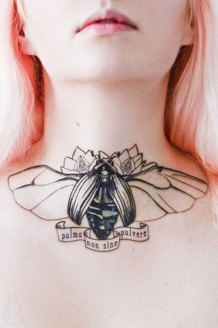 Scarab Beetle Latin Phrase Temporary Tattoo
