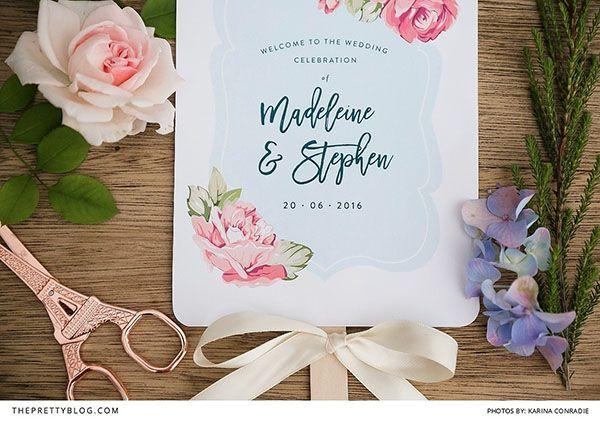 Dieci idee con tutorial per un matrimonio in estate: ventagli fai da te, una wedding bag estiva, decorazioni e bomboniere a tema.