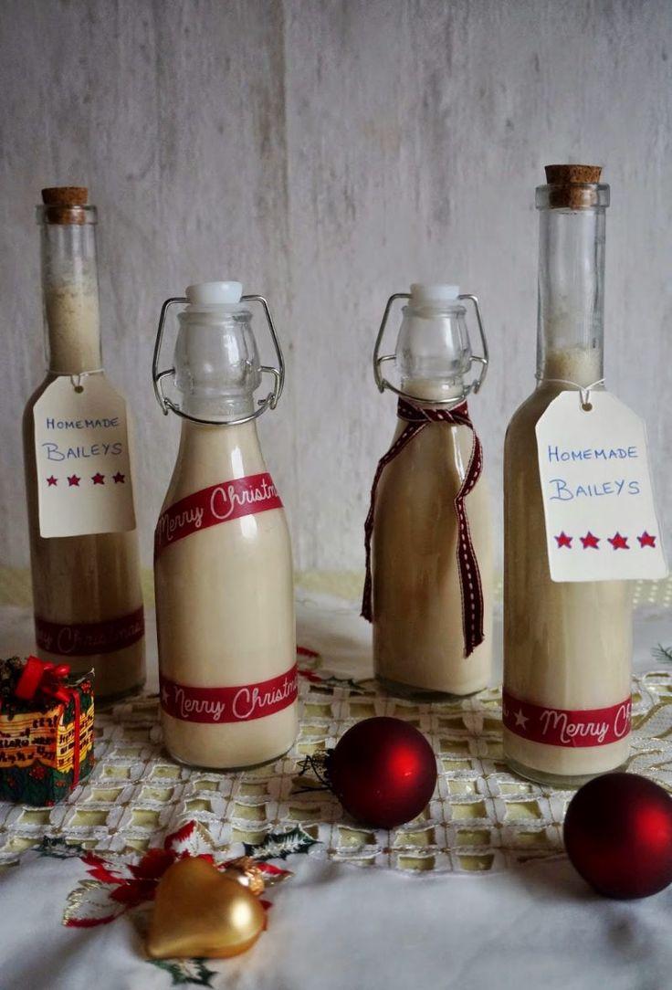 Nikolausgeschenk für Freund Weihnachtslikör DIY Rezepte