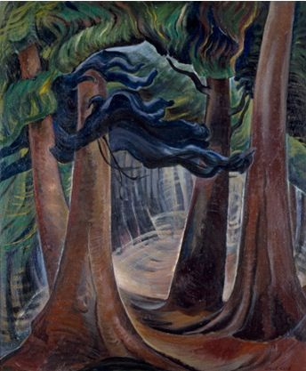 Among the Firs Emily Carr. EC not only had a wonderful passion for painting trees but what I admire most about her is the way in which she was able to paint what she sees.
