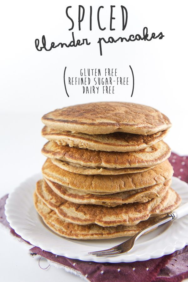 These spiced pancakes are gluten-free, refined sugar-free and dairy-free  and are filled instead with wholesome oats, one banana, a splash of almond  milk and a big pinch of warming spices. The best part - they are 100% made  in a blender and the prep tim
