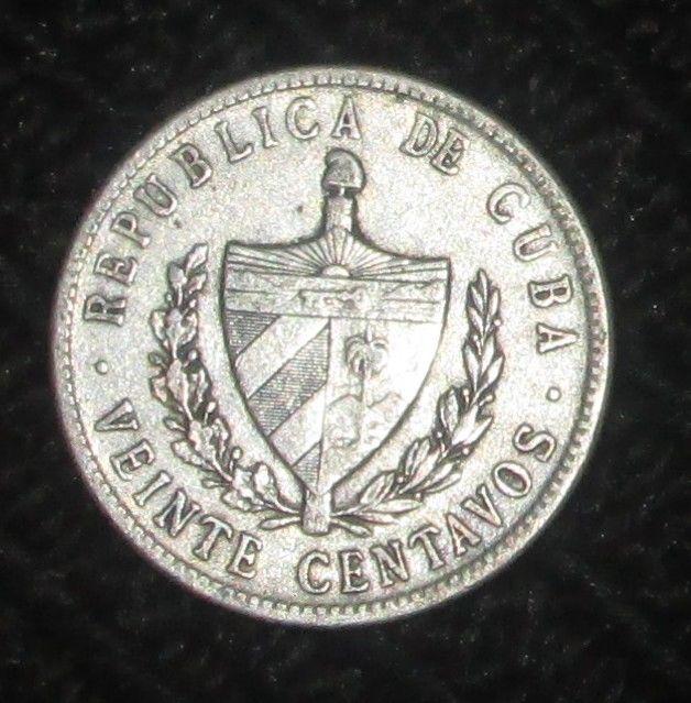 1920 CUBA VEINTE CENTAVOS