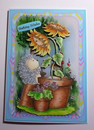 A5 Mini Kit Hedgehog Sunflower Friend  on Craftsuprint - View Now!