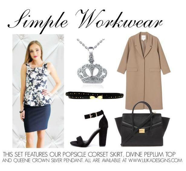 Perfect for the work day outfit! Loving our Divine Peplum top ✔️