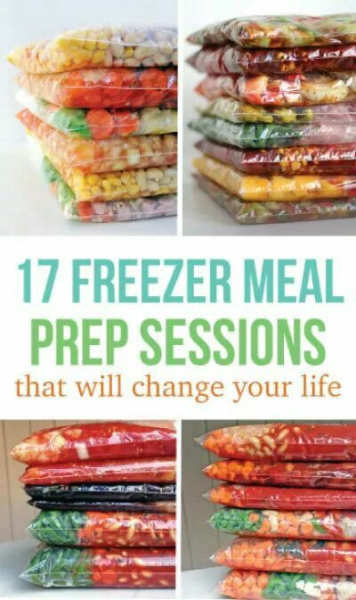 17 freezer meals prep sessions with grocery lists. No before freezing cooking