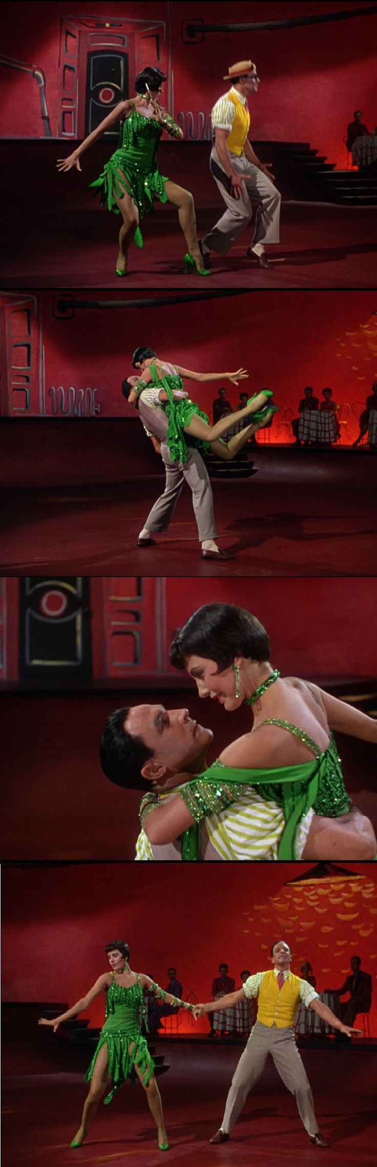Cyd Charisse and Gene Kelly in a delicious and sensuous ballet in Singin' in the Rain 1953