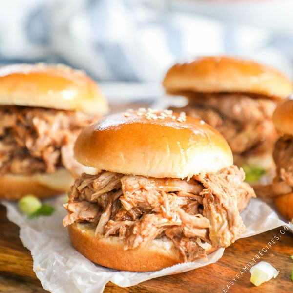 Tender Bbq Pulled Pork Sandwiches This Is The Easiest And