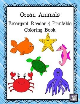 """This is a cute & colorful class emergent reader about ocean animals. It follows the pattern from """"Brown Bear, Brown Bear, What Do You see?"""" by Bill Martin Jr. Pictures are fish, whale, shark, sea turtle, seahorse, crab, octopus, and starfish. Perfect for beginning readers since it follows a familiar pattern!  Includes class book, student b&w copies, picture cards. $"""