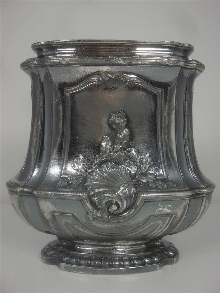 details about antique orf vrerie gallia christofle france art nouveau french silver plate vase. Black Bedroom Furniture Sets. Home Design Ideas