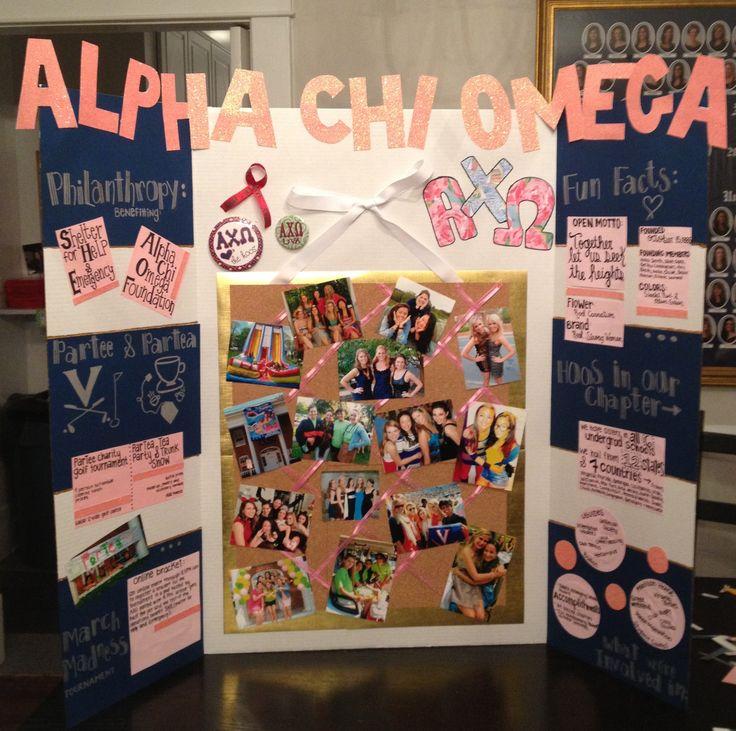 alpha chi omega recruitment tri fold designs pinterest