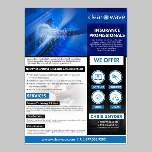 Clearwave Communications Sales Flyer Postcard Flyer Or Print