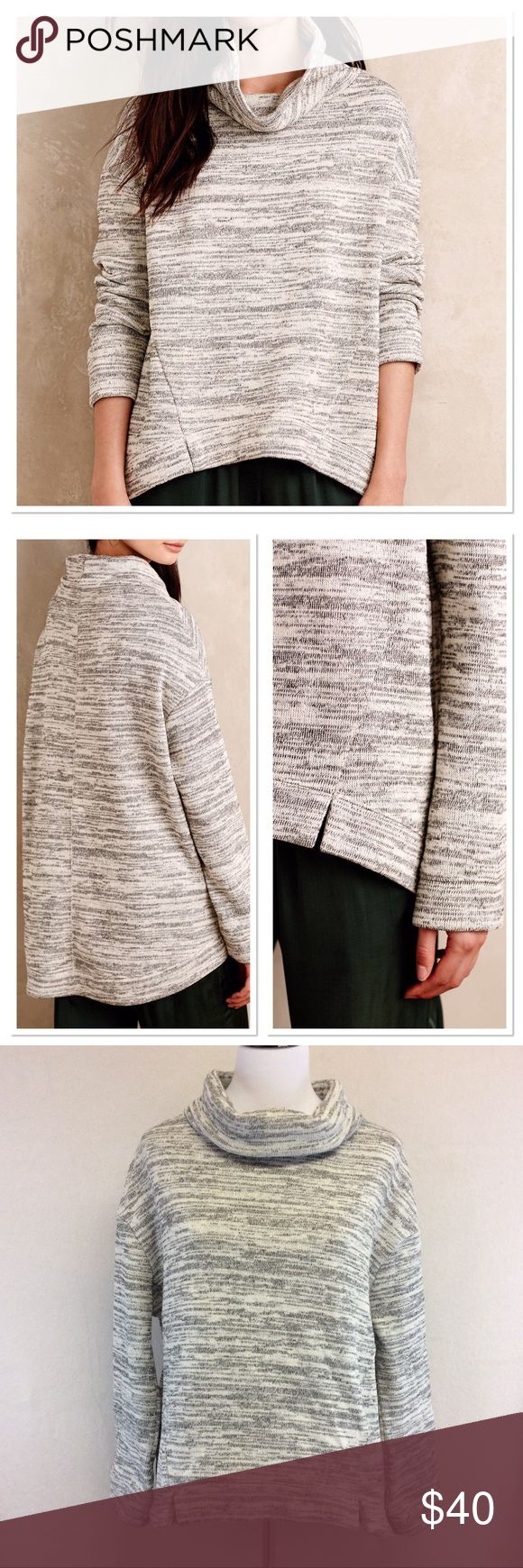 "M ANTHROPOLOGIE Saturday Sunday oversized sweat Brand: Saturday Sunday for Anthropologie  Style: oversized space dye sweatshirt in white Size: medium Approximate Measurements: pit to pit 24"" shoulder to hem 24""-27.5"" Material: 100% polyester Features: slouchy neck, long sleeves, heathered pattern in neutral color  Condition: excellent pre-loved Anthropologie Tops Sweatshirts & Hoodies"