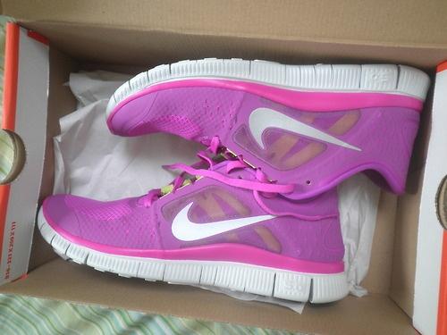 interval running pink basketball nike