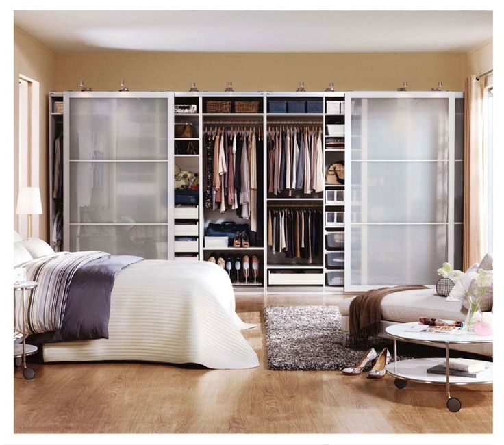 Beautiful PAX bedroom wardrobe inspiration.