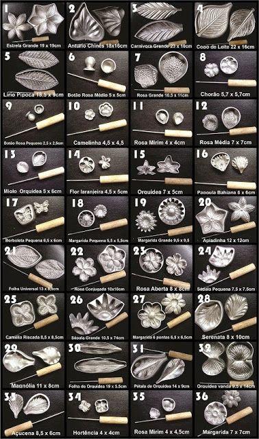 Aluminas Peças em Alumínio.: Kit Frisador para Flores e Tecidos Em Alumínio Lan...
