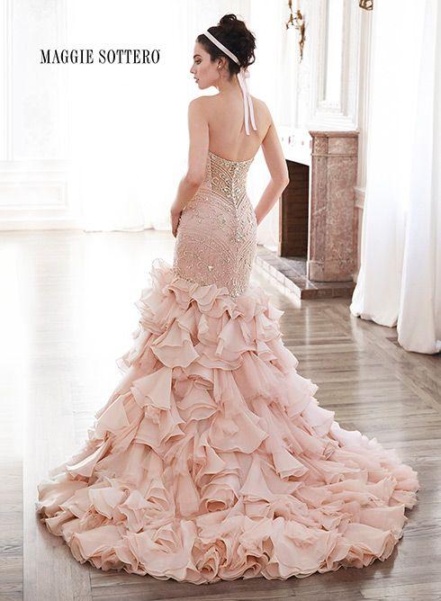 475 best Vestidos de novia con cola images on Pinterest | Wedding ...
