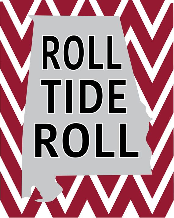 Alabama Roll Tide Printable 8x10 available on Easy
