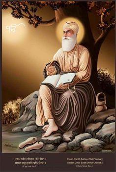 #SikhArt Beautiful Picture Of Guru Nanak Dev Ji maharaj! Share & Spread!