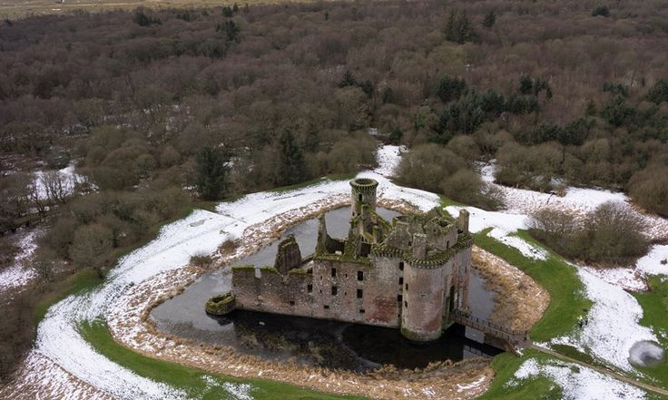 Cross the moat to find yourself in a fairytale setting, complete twin-towered gatehouse and lofty battlements.