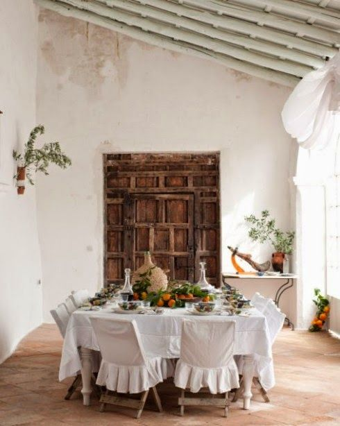 greige: interior design ideas and inspiration for the transitional home: Mediterranean outdoor dining