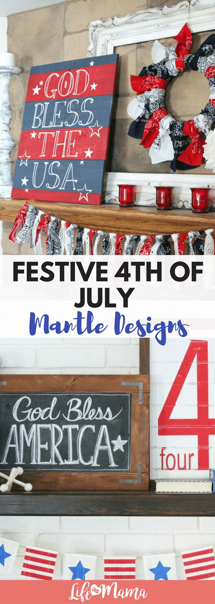 Check out this festive list of 4th of July mantle designs and get ready to celebrate Independence Day!