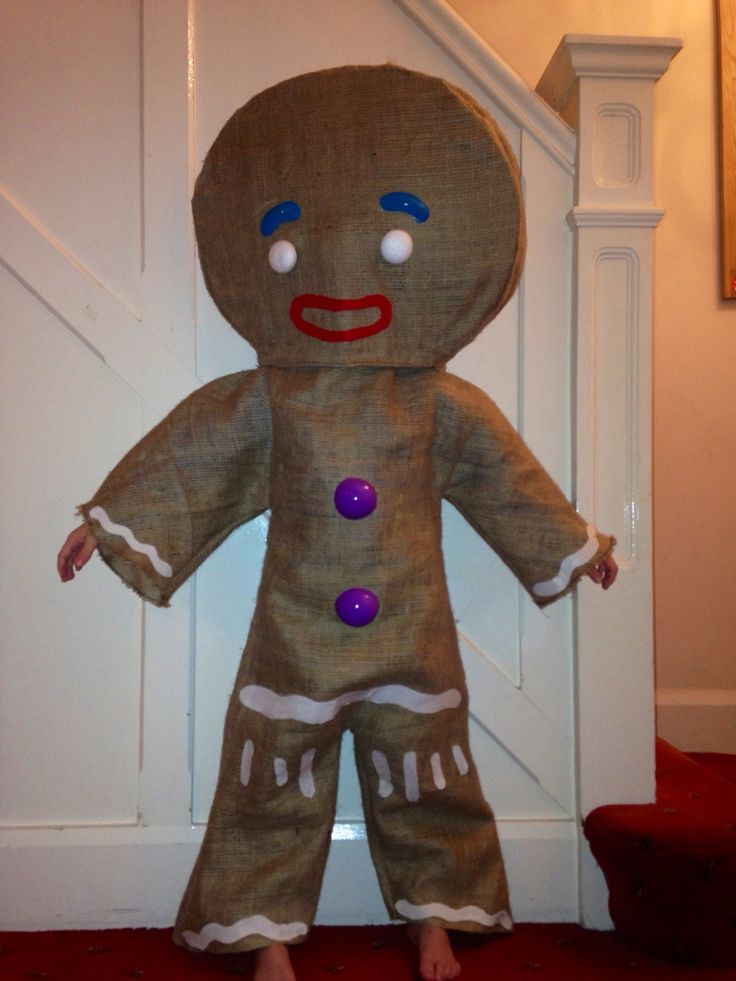 hand made gingerbread man costume my crazy kids fancy