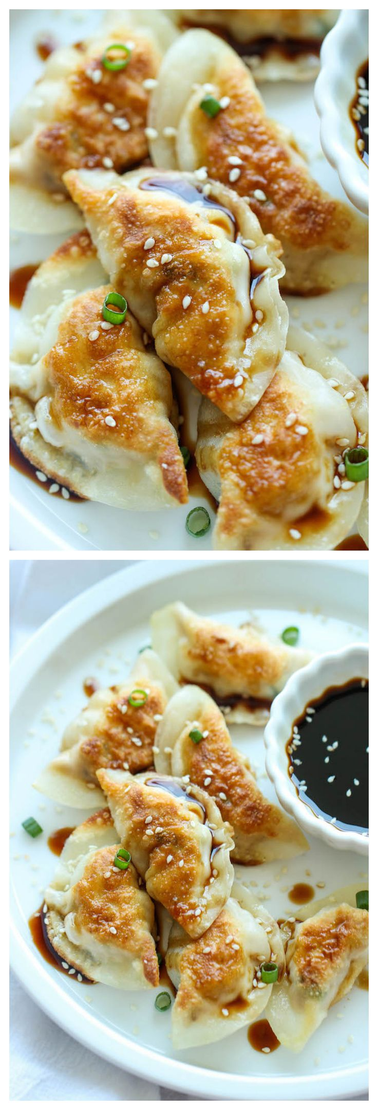 Sesame Chicken Potstickers - These are unbelievably easy to make. And they're freezer-friendly too, perfect for those busy weeknights!