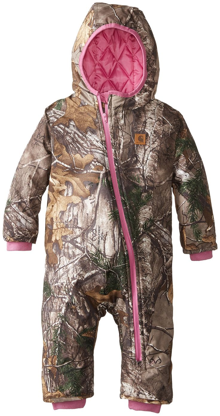 Carhartt Baby-Boys Infant Camo Snowsuit, Realtree Xtra, 12 Months