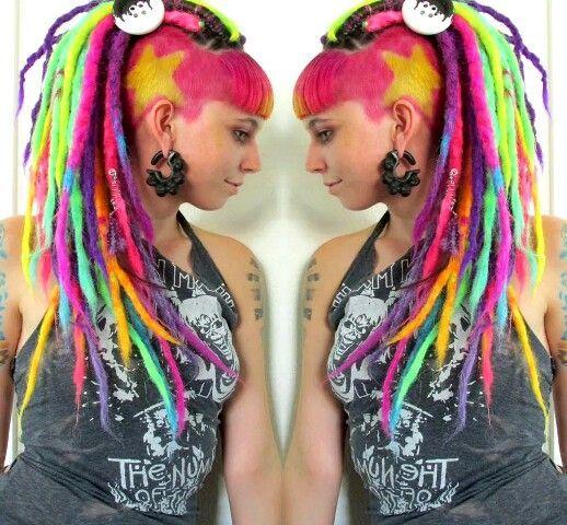 Dreads and rasta hair colors!