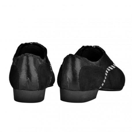 BANDOLERA 105 DAIM NOIR-PYTHON<br>Chaussure de tango