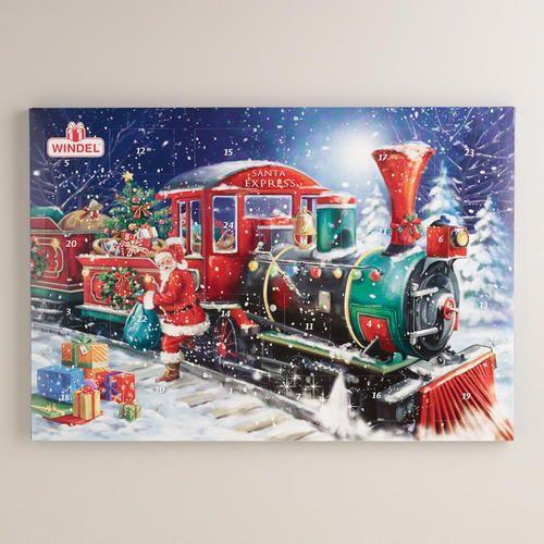 One of my favorite discoveries at WorldMarket.com: Windel Train Advent Calendar