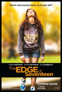 """My Review of """"The Edge of Seventeen"""" http://cwatlanta.cbslocal.com/2016/11/18/the-edge-of-seventeen-movie-review/"""