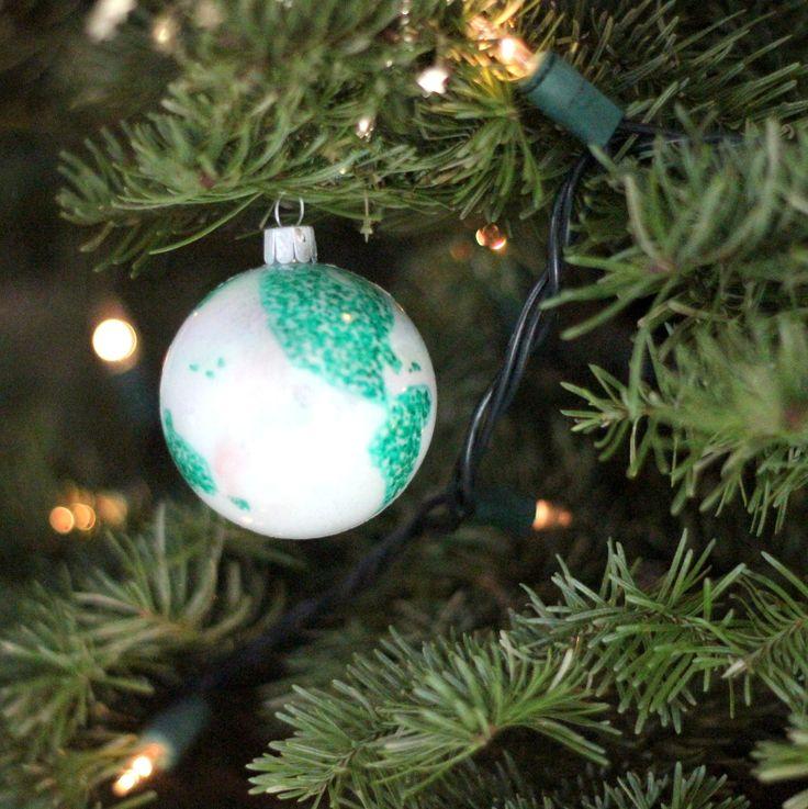 DIY world globe ornament  Peace on Earth  Pinterest