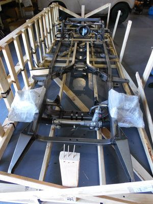 1955 Chevrolet Bel Air - The frame arrived today! It looks magnificent, the frame will be heading to the powder coater. If you need a new frame, contact us @: http://www.texomaclassics.com