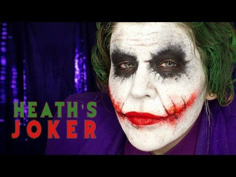 halloween makeup tutorial nine heath ledgers joker from the dark knight - Halloween Tutorials
