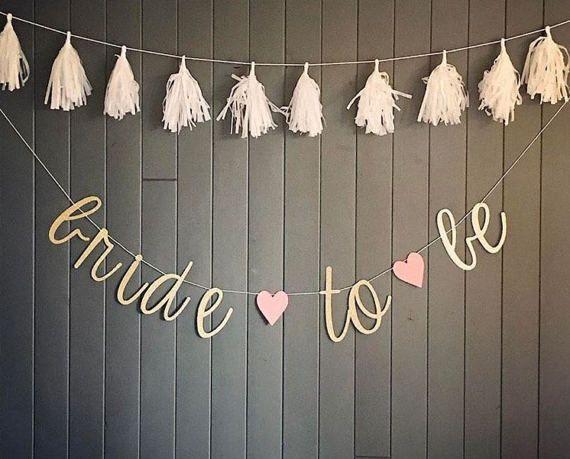 BRIDE TO BE Banner by SEVENTHandJ on Etsy #bridetobe #bridalshower