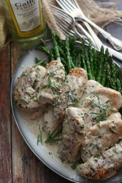 Tarragon Chicken | www.girlichef.com