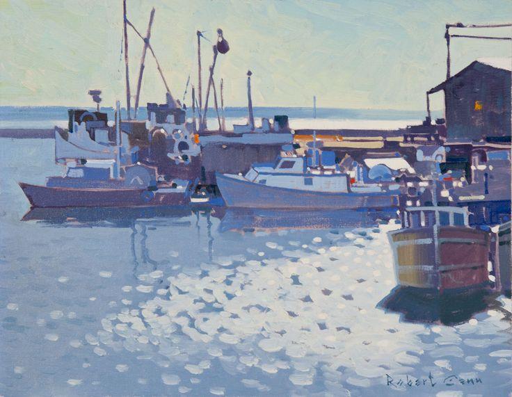 Robert Genn, 'The Wharf à Alert Bay, Comorant Island BC »à Mayberry Fine Art LE QUAI D'ALERT BAY, EN COLOMBIE-BRITANNIQUE ÎLE COMORANT  ROBERT GENN Acrylique (14x18 in) 5,500.00 $ y compris le cadre Situation actuelle: Winnipeg Pour plus d'informations email contemporary@mayberryfineart.com Bail de $ 137,50 par mois ROBERT GENN (1936 - 2014)