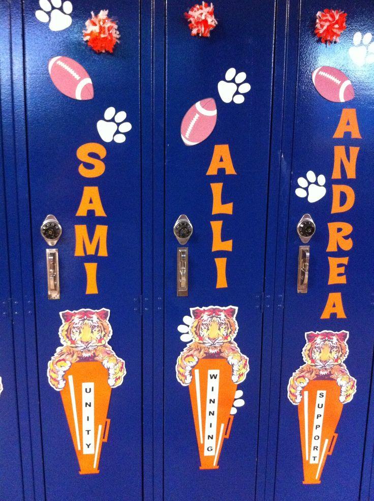25 best ideas about cheerleading locker decorations on