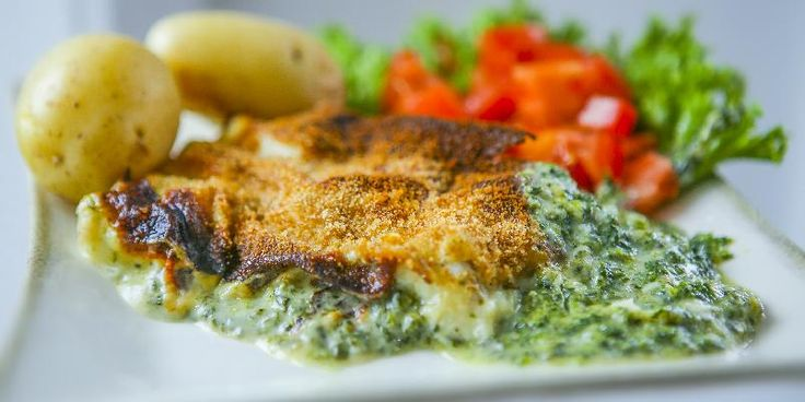 Fisk Florentine - Dette er en enkel fiskerett med masse sunn spinat.