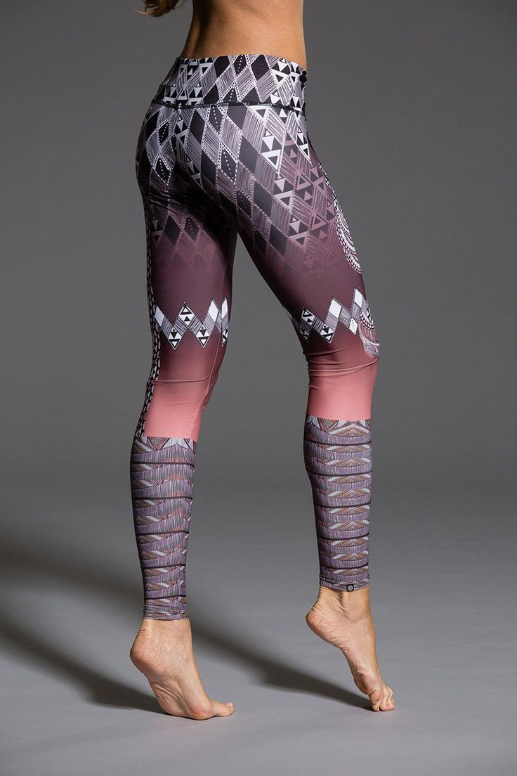 You'll fall in love with this abstract tribal print in warm colors Blending art and fashion, the unique placement printing process for our Graphic Legging is one of kind! These leggings are custom mad