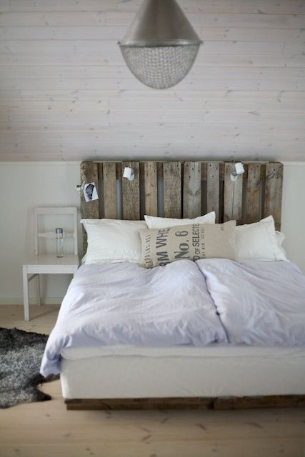 DIY headboard; wood slipcover for existing metal frame... by annabelle