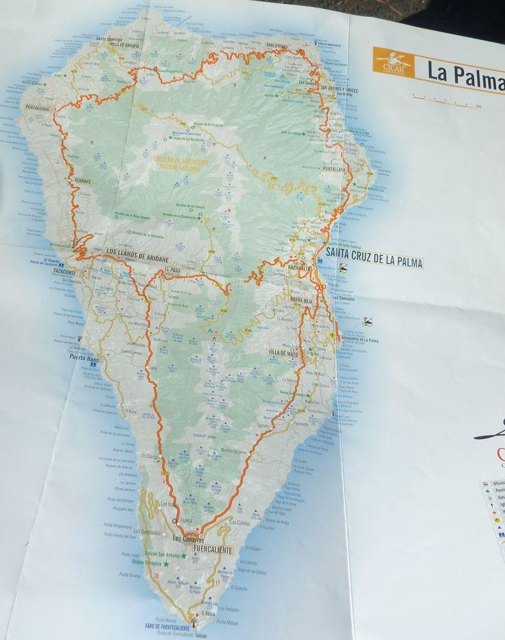 mapa Isla de La Palma¡