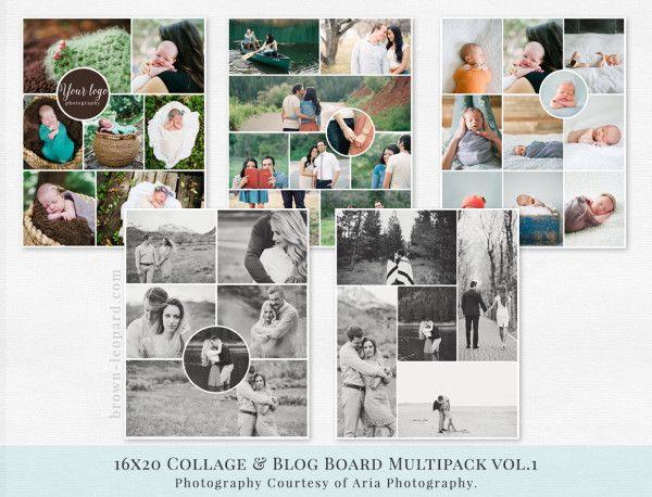 Collage & Blog Board Multipack vol.1 | Brown Leopard