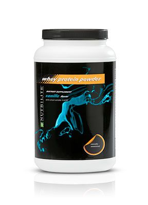 """NUTRILITE Whey Protein Powder - Vanilla - Use recipes from Livestrong.com (or google """"protein powder recipes) to find loads of protein powder recipes that are not shakes! Including pancakes, cookies, parfaits, protein poppers, etc.: Message, Shake Great, Lunch, Perfect"""