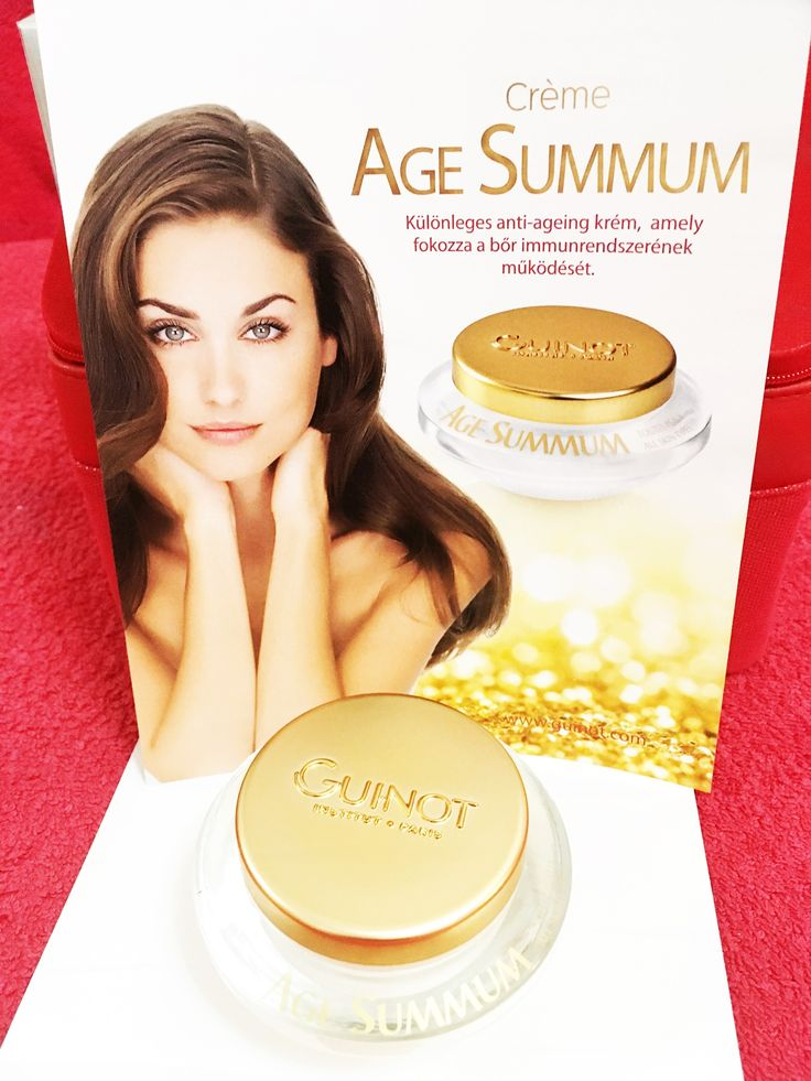 Age summum - brand new anti-aging facial skin care from Guinot