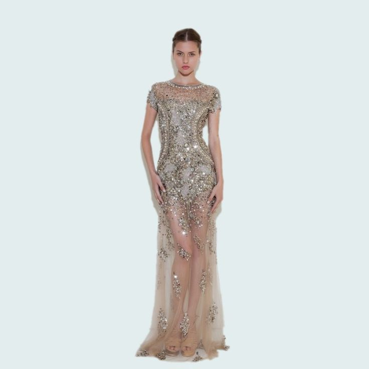 Luxury Formal Long Evening Dresses Crystal 2016 Beaded Robe De Soiree Fashion 1920s Great Gatsby Dress Party Custom -in Evening Dresses from Weddings & Events on Aliexpress.com | Alibaba Group